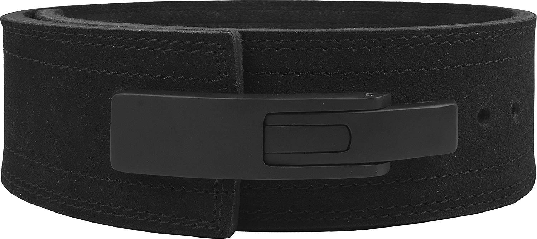 Hawk Sports Lever Belt Black Genuine Leather Powerlifting Men & Women Power Lifting 10mm Weightlifting Belt! (Black, Small)