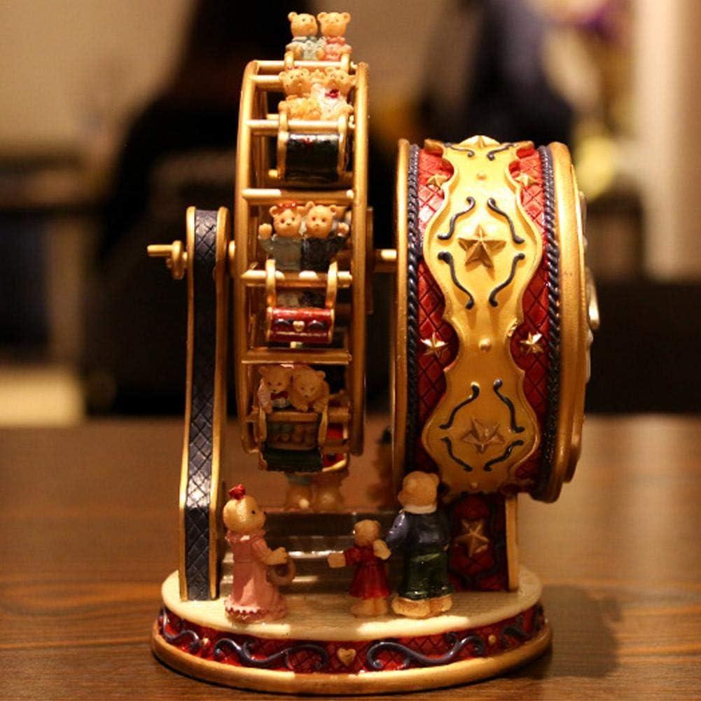 vogueyouth Carillon Rotante Ruota panoramica Carillon Rotante in Resina Regali per Regali di Compleanno//Natale