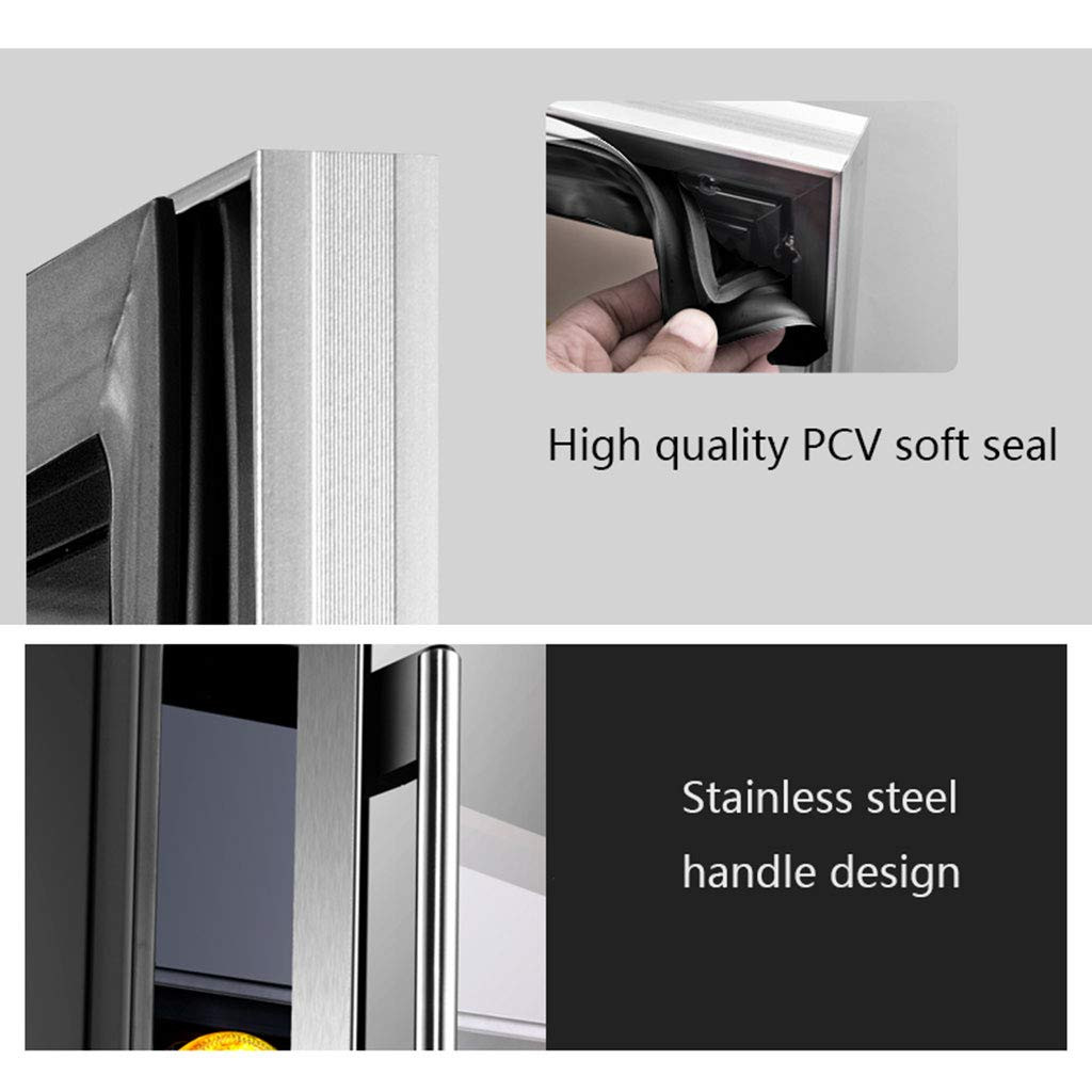 With 10l Micro-Freezing Room Quiet Operation Fridge Beverage Cooler//Chiller GXFC Small Wine Cellar Refrigerator Dual Temperature Zone Ice Bar