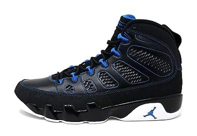 meet 500b7 f62f9 Nike Men's Air Jordan IX 9 Retro Black White Photo Blue ...