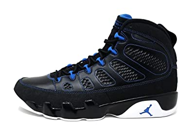 52ee3ee70e362c Nike Mens Air Jordan 9 Retro Photo Blue Black White-Photo Blue Leather Size
