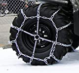 4 Link TIRE CHAINS & TENSIONERS 29x12x15 for Kubota Lawn Mower Garden Tractor by The ROP Shop