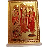 Ram Darbar Desk Dashboard Gold Acrylic Frame Art Hindu Altar Yoga Meditation Accessory Gift