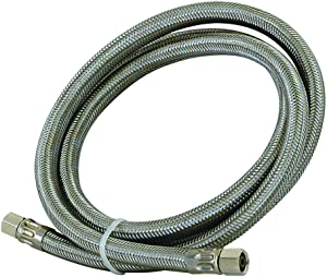 Eastman 48283 Braided Stainless Steel Ice Maker Connector, 8-foot, Silver