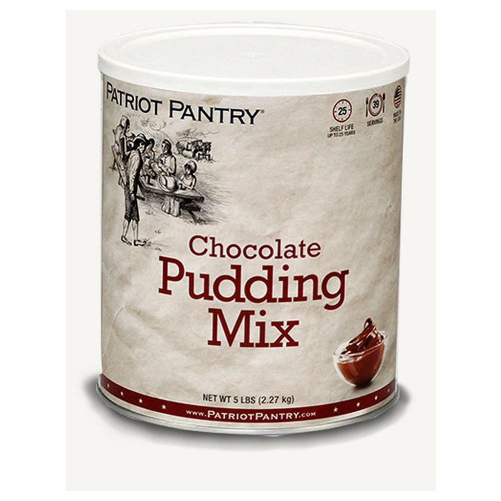 Patriot Pantry Chocolate Pudding Mix (24 servings) #10 Can Bulk Emergency Storage Food Supply, Up to 25-Year Shelf Life