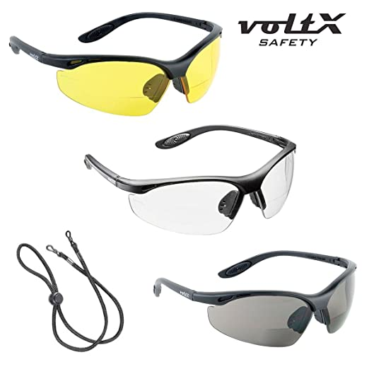 6 opinioni per 3 x voltX 'CONSTRUCTOR' Bifocale Sicurezza occhiali da lettura, Certificati CE