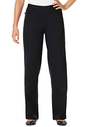 f502d16515a Woman Within Women s Plus Size Tall Wide Leg Fineline Jean at Amazon  Women s Jeans store