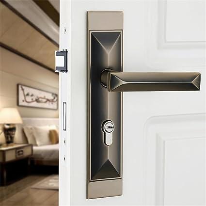 GaoHX LOCK~ Minimalistas Interiores De Las Puertas Cerraduras Cerraduras Europeas Manija De La Puerta Dormitorio
