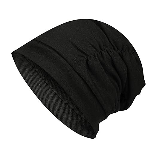 59e6953ac1b04 Homeparty Warm Baggy Weave Crochet Winter Wool Knit Hat Unisex Ski Beanie  Skull Cap Black at Amazon Women s Clothing store