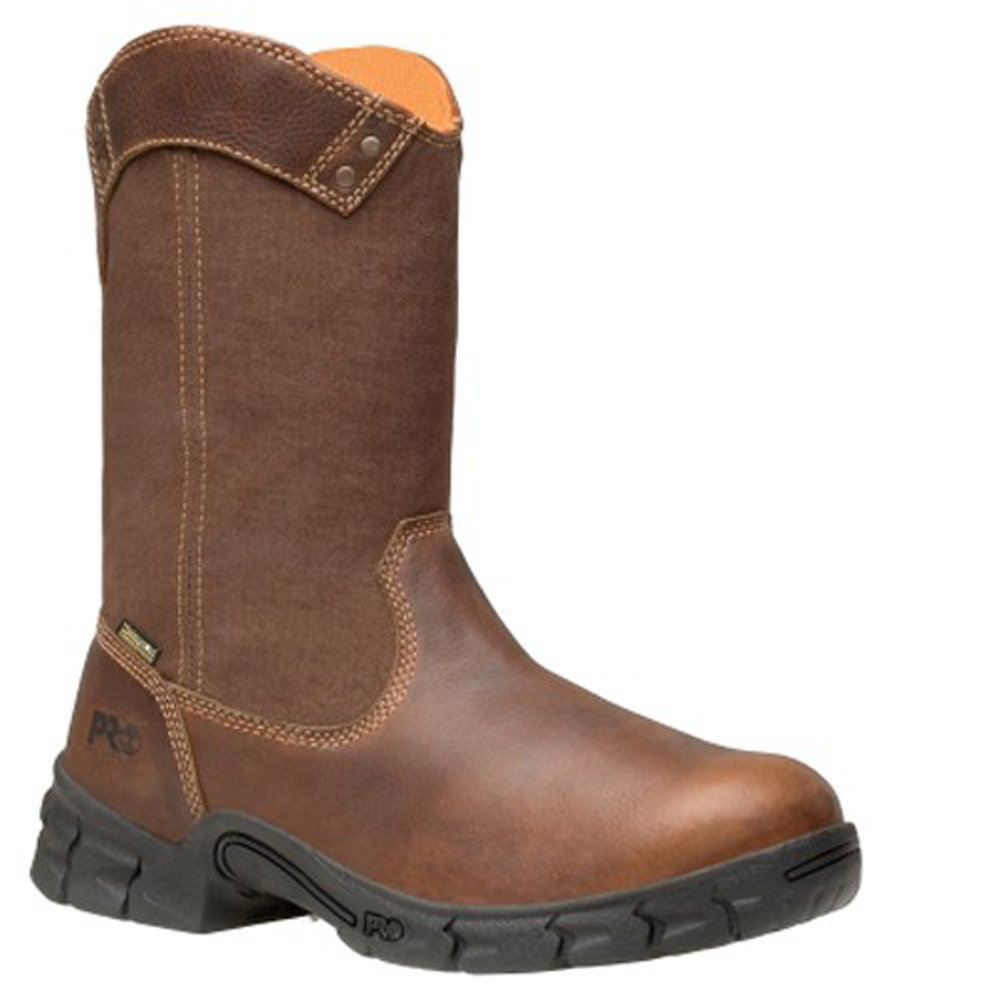 Timberland PRO 87560 Men's Excave WP Wellington Soft Toe Boot Fox Brown 9 W US