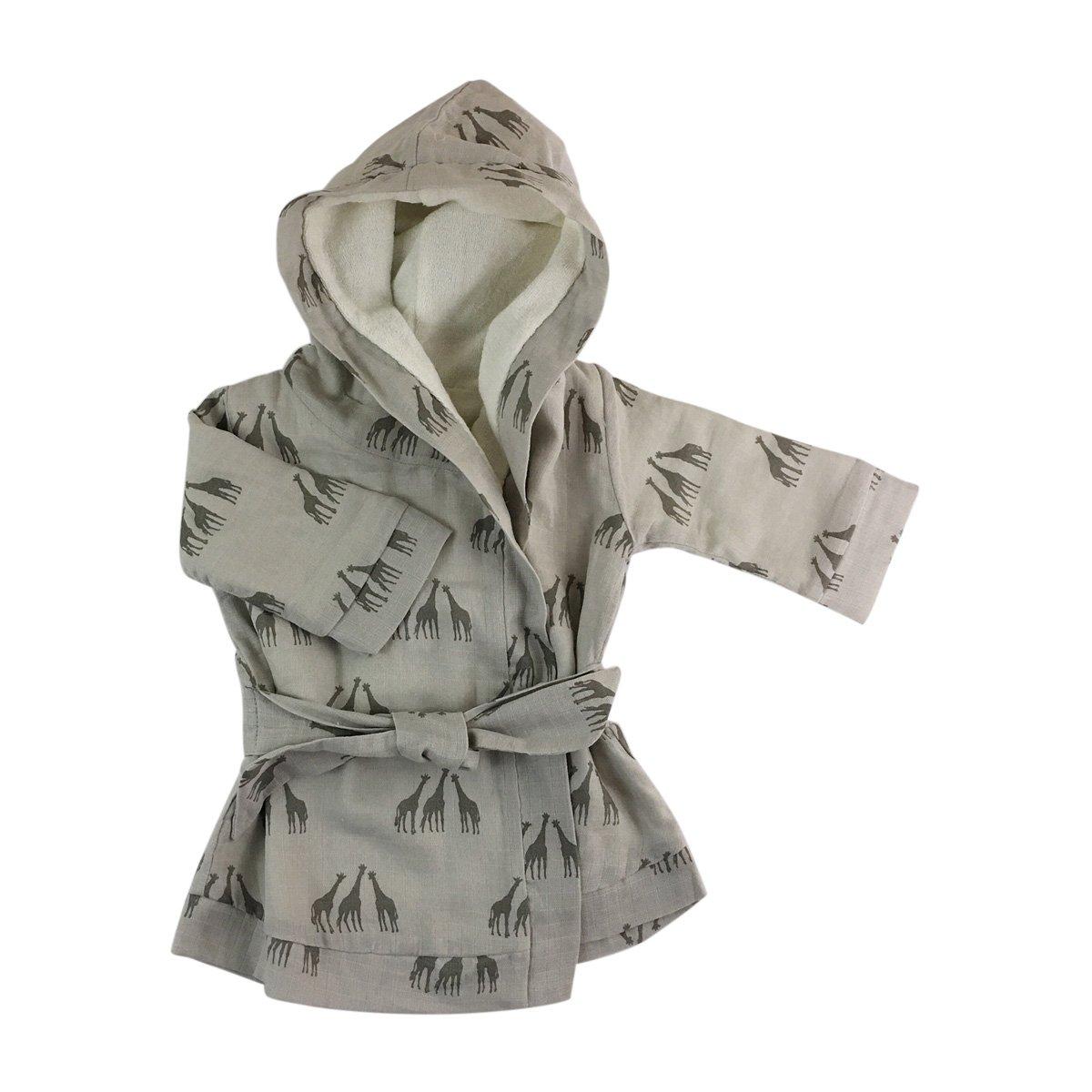 Kate Quinn Organics Unisex-Baby Robe, 12-24M (Giraffe Grey) by Kate Quinn Organics
