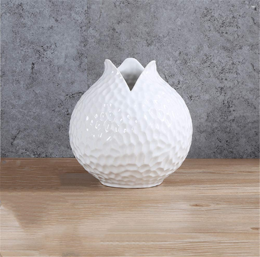 Thailändische Vase Keramik mit Elefanten Köpfen verziert RK125
