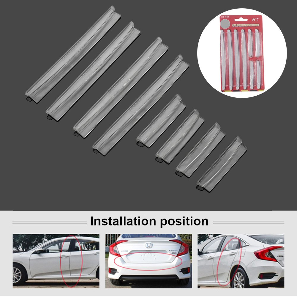 CALAP STORE - 8 Pcs Car Accessories Door Edge Guard Strip Scratch Protector Anti-collision Edge Guard Strip