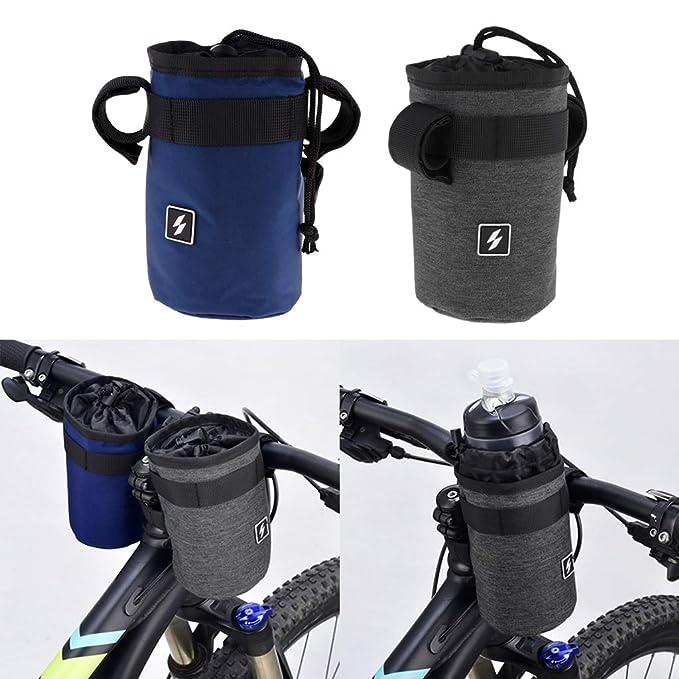 Cycling Sports Water Bottle Holder Bike Stem Bag Kettle Carrier Outdoor Pouch UK