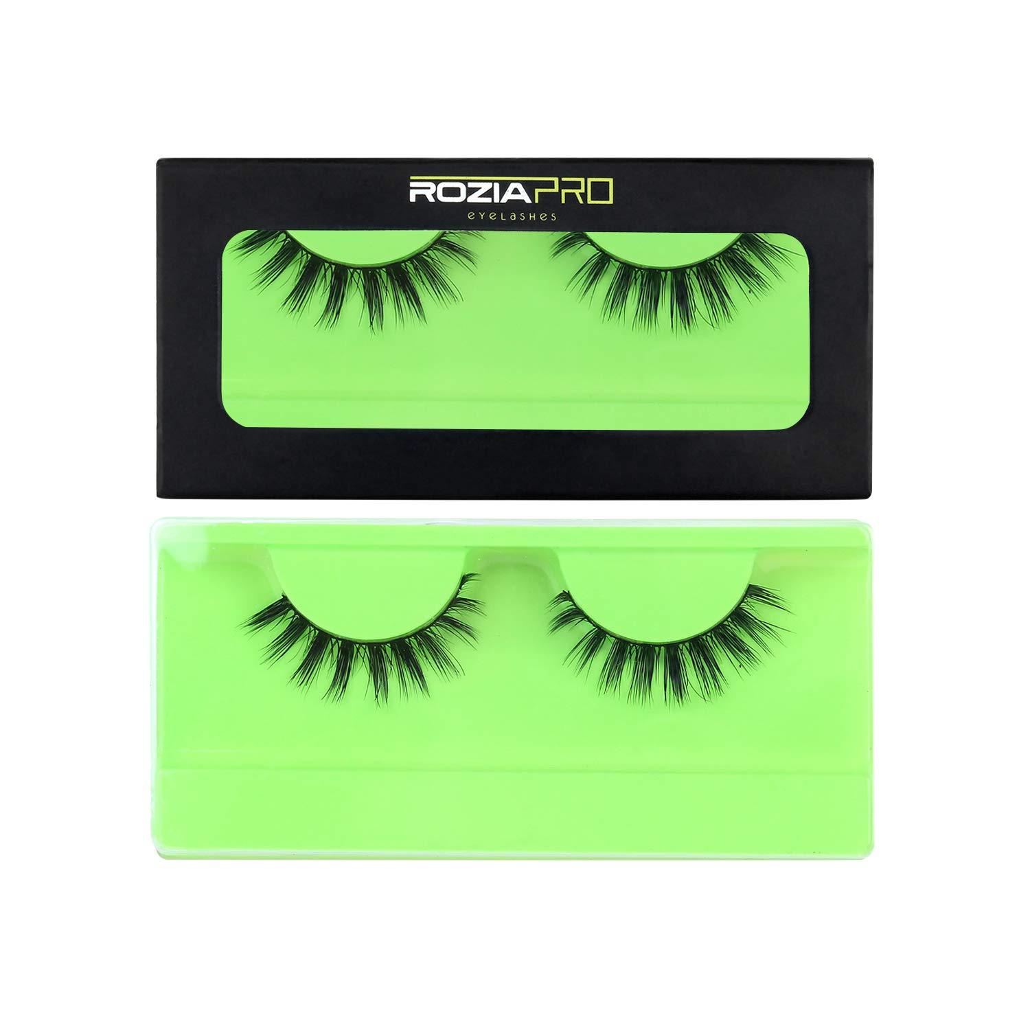 Rozia Artificial Eyelashes Ultra Natural Looking Lashes Perfect For First-Time Lash Users Fuller Lash With Slightly Tapered Inner And Outer Corners