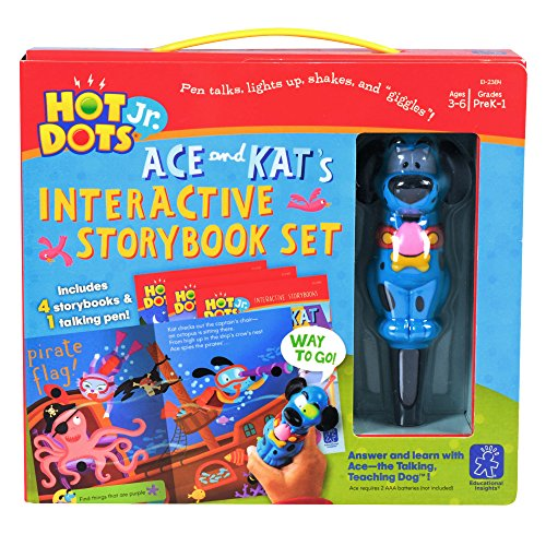 Educational Insights Hot Dots Jr. Interactive Storybooks, 4-Book Set with Ace Pen ()
