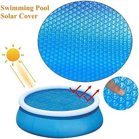 NUEVO Cobertor solar piscina redonda 120cm, Manta Solar Piscina Película aislamiento plástico burbujas UV Protección para armazones o piscinas inflables, jacuzzi hinchable, mantenga el agua caliente: Amazon.es: Hogar