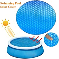 NUEVO Cobertor solar piscina redonda 120cm, Manta Solar Piscina Película aislamiento plástico burbujas UV Protección…