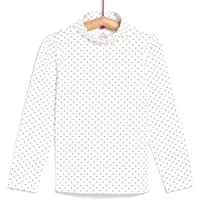 TEX - Camiseta de Algodón para Niña, Manga Larga, Cuello Alto