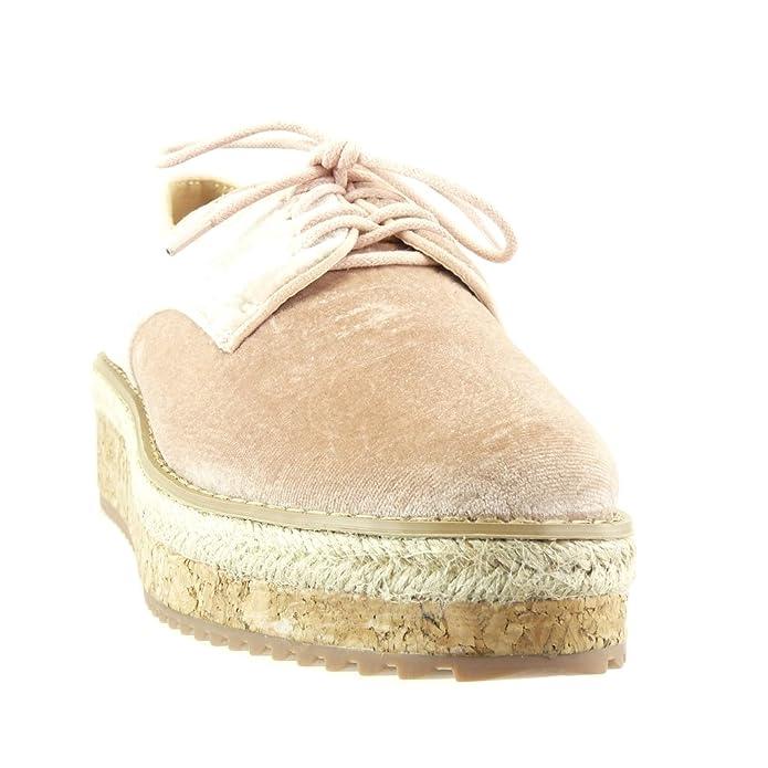 508a26b10e758f Angkorly Damen Schuhe Derby-Schuh Espadrilles - Plateauschuhe - Blumen -  Bestickt - Kork Keilabsatz High Heel 5 cm  Amazon.de  Schuhe   Handtaschen