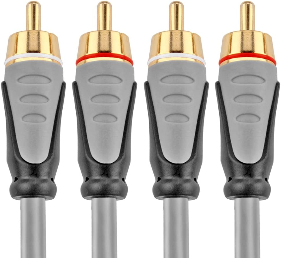 - Dual Composite RCA Male Connector Plug M//M 2 Channel TNP Premium 2RCA Stereo Audio Cable Right and Left Gold Plated Dual Shielded 2RCA to 2RCA Wire Cord 15 Feet