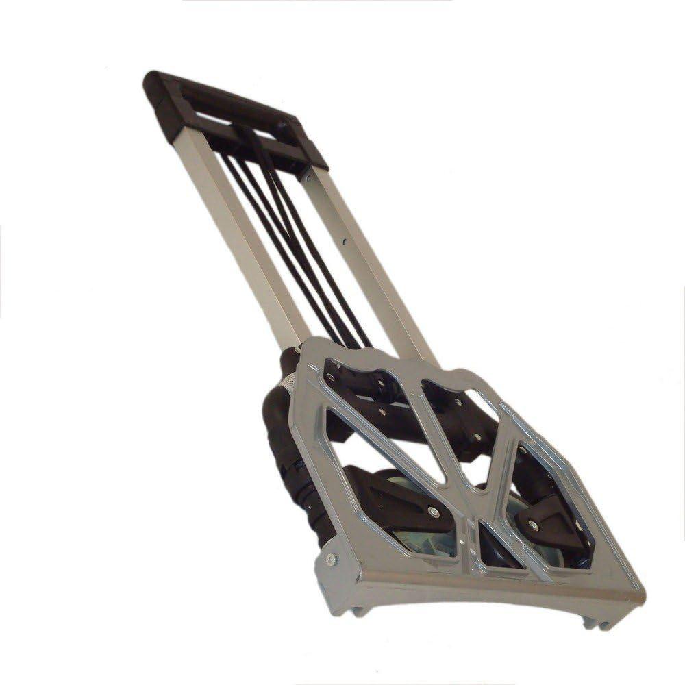 Carrello portapacchi porta casse pieghevole ultra compatto 39x40x98cm grigio