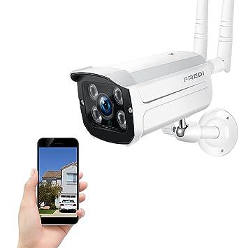 FREDI 720P-IP66 Resistente al Agua Cámara de vigilancia inalámbrica/Cámara de Seguridad inalámbrica/Compatible con Tarjeta SD 128G (No Incluido) ...