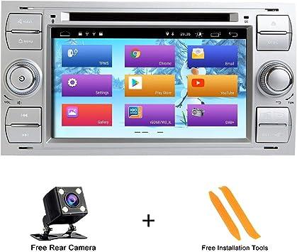 Zltoopai Android 9 0 Für Ford Focus Mondeo S Max C Max Autoradio Stereo Gps Navigation Media Player Silber Navigation