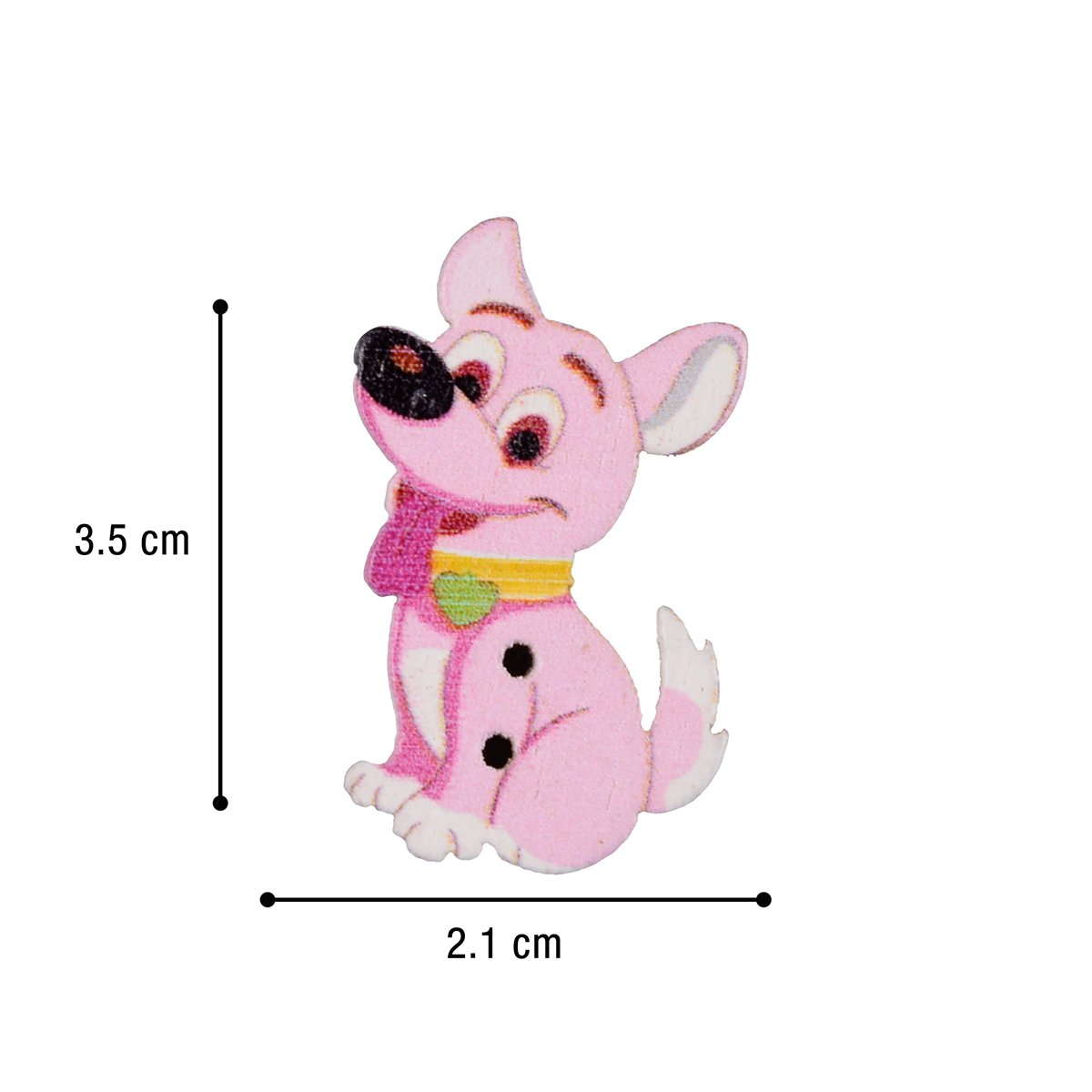 10 Cute Long Puppy Dog Wooden Sewing Buttons Assorted Colours 16x35x2mm,