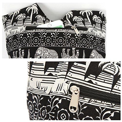 KARRESLY Sling Handmade Cotton Shoulder Bag Hobo Bohemian Bags Khaki Crossbody Messenger Hippie Bag raYqrwpH