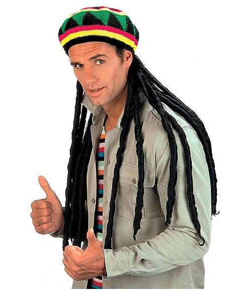 a6ae4c4ed9281 Sombrero de Jamaica con rastas  Amazon.es  Juguetes y juegos