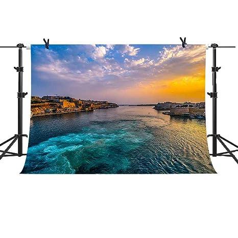 Amazoncom Mme Backdrop 7x5ft Evening Background European Coastal