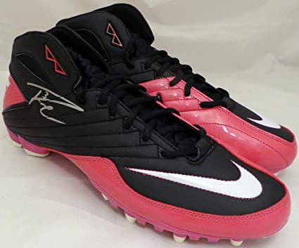 4d53f440fb Russell Wilson Autographed Pink Nike Cleats Shoes Seattle Seahawks RW Holo  Stock #130720 - Autographed