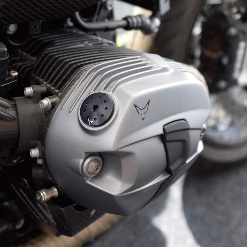 Racefoxx Öldeckel Öleinfülldeckel Ölkappe Deckel Öl Kappe Aluminium Gefräst Schwarz Für Bmw R Nine T R9t Auto