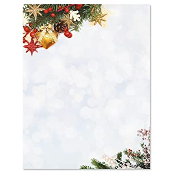 holiday sparkle christmas letter papers set of 25 christmas stationery papers are 8 1