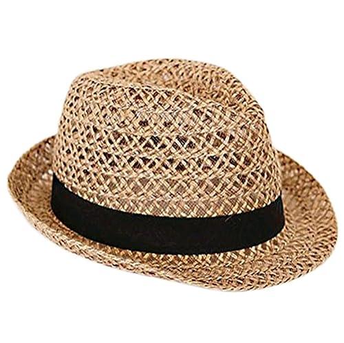 Leisial DonnLeisial Donna Paglia Cappello da Cowboy Cappello da Sole Spiaggia per le Donne