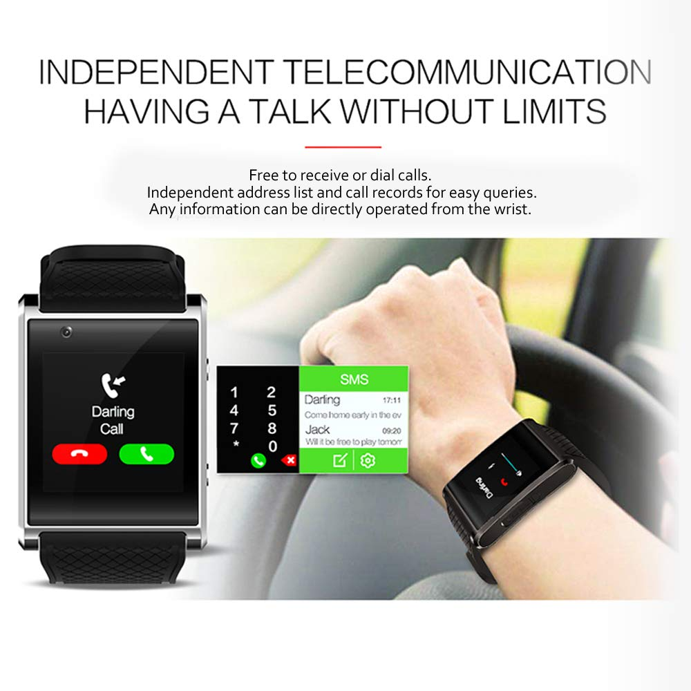 Amazon.com: Indigi NEW 2017 3G Android 5.1 Smart Watch Phone ...