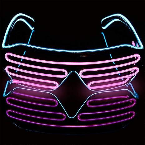 Halloween LED Leuchtende Brille EL Wire Neon Party Klub Leuchtbrille Partybrille