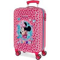 Disney Minnie Help on The Day Maleta de Cabina Rosa 37x55x20 cms Rígida ABS Cierre combinación 32L 2,5Kgs 4 Ruedas…