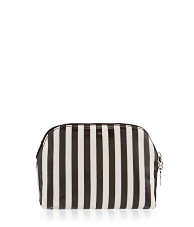 07a1aaa82e89 Amazon.com   Henri Bendel Brown and White Dome T Gusset Cosmetic Bag    Beauty