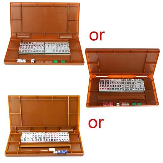siwetg Mini 144 Mahjong Juego de Mesa Tradicional Plegable de ...