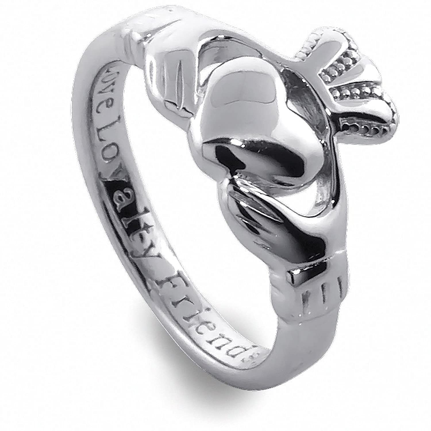 Amazon Sterling Silver La s Claddagh Ring Claddagh Ring