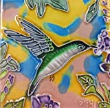 Continental Art Center SD-068 4 by 4-Inch Hummingbird No.4 Ceramic Art Tile