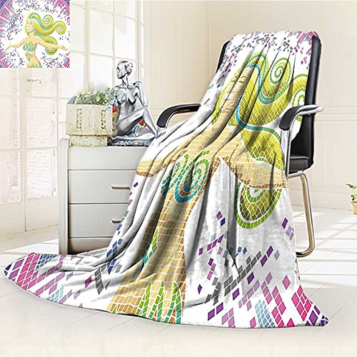 AmaPark Throw Blanket Room Lilac Hot Pink and