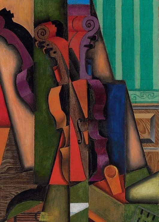 Juan Gris violín y guitarra 250 gsm brillante Art Tarjeta A3 ...