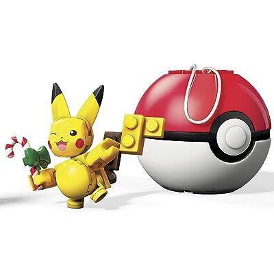 Mega Construx Pokemon Candy Cane Pikachu Building Set: Toys & Games