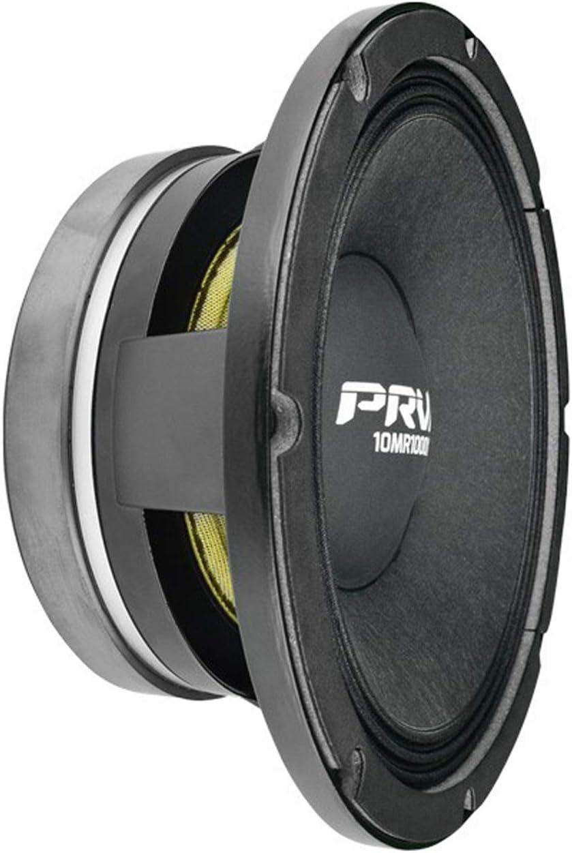 "PRV AUDIO 10MR1000X 10"" Mid Range 8 ohms Pro Audio Speaker 100dB 500 Watts RMS 3"" VC (Single)"