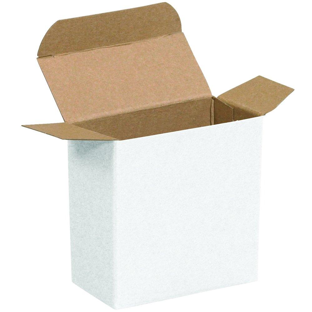 Aviditi RTC30W Reverse Tuck Folding Cartons, 3 5/16'' x 1 1/2'' x 3 5/16'', White (Pack of 1000)