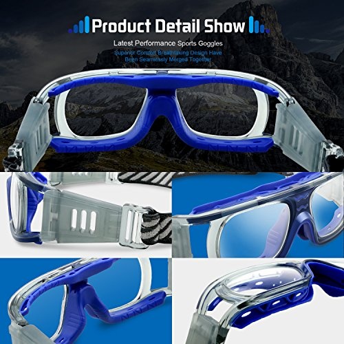 4709e75d90 PONOSOON Sports goggles for basketball football volleyball hockey Paintball  Lacrosse 852