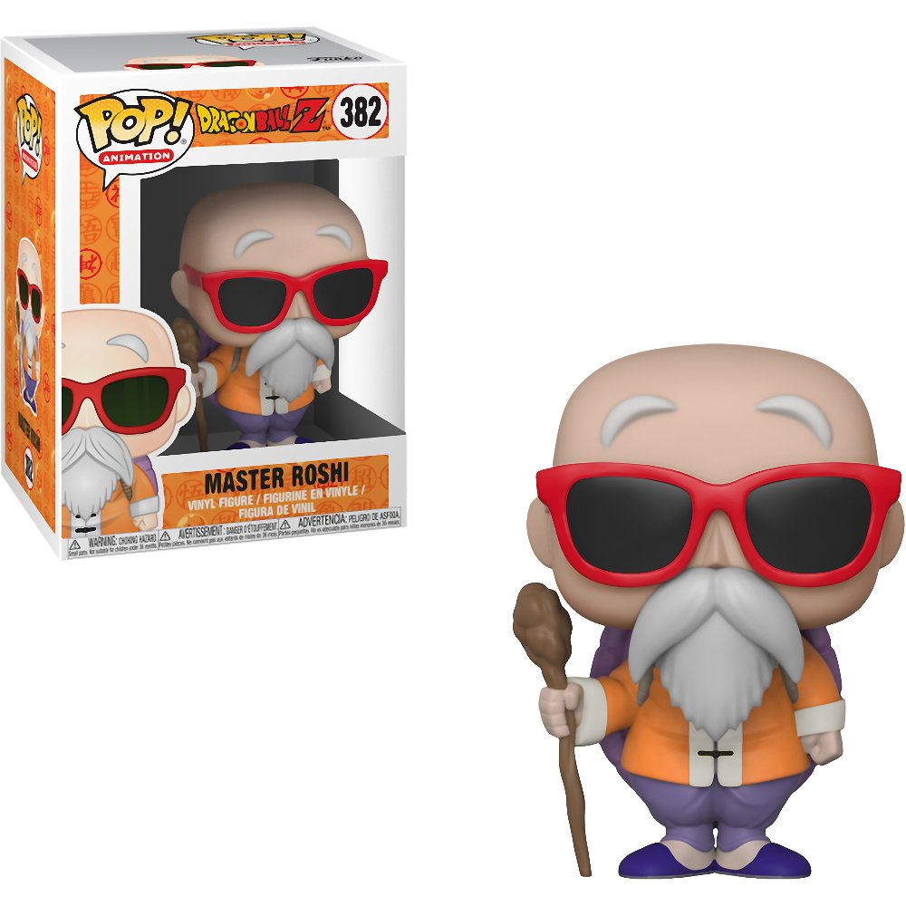 #382 // 32260 - B Funko Master Roshi Dragonball Z x POP Animation Vinyl Figure /& 1 PET Plastic Graphical Protector Bundle
